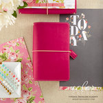 Websters Pages - Color Crush Collection - Travelers Planner - Fuchsia