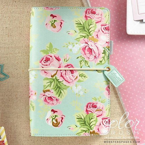 Websters Pages - Color Crush Collection - Traveler's Planner - Mint Floral