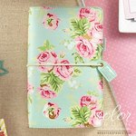 Websters Pages - Color Crush Collection - Travelers Planner - Mint Floral