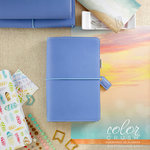Websters Pages - Color Crush Collection - Travelers Planner - Periwinkle