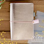 Websters Pages - Color Crush Collection - Travelers Planner - Platinum Rose