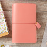 Websters Pages - Color Crush Collection - Traveler's Planner - Pretty Pink