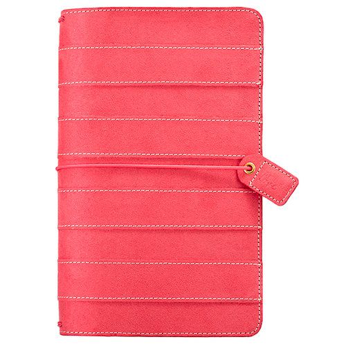 Websters Pages - Color Crush Collection - Travelers Planner - Pink Stitched Stripe