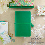 Websters Pages - Color Crush Collection - Traveler's Planner - Summer Green