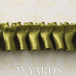 Websters Pages - Designer Ribbon - Green Ruffle - 25 Yards, BRAND NEW