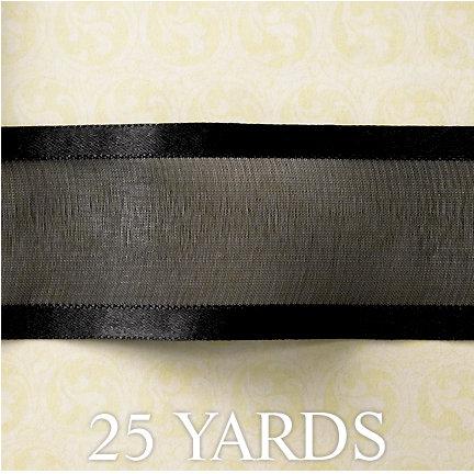 Websters Pages - Designer Ribbon - Black - 25 Yards