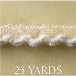 Websters Pages - Designer Ribbon - Snow - 25 Yards