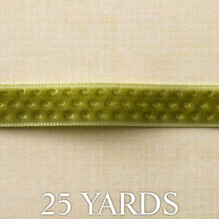 Websters Pages - Designer Ribbon - Green Gold - 25 Yards