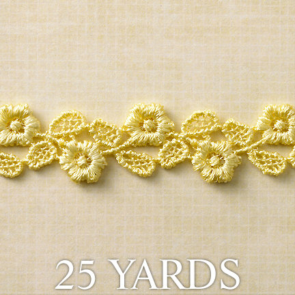 Websters Pages - Designer Ribbon - Yellow - 25 Yards, BRAND NEW