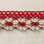 Websters Pages - Spring Market Collection - Designer Ribbon - Spring Red - 25 Yards