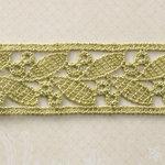 Websters Pages - Spring Market Collection - Designer Ribbon - Green Petals - 25 Yards