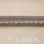 Websters Pages - Trendsetter Collection - Designer Ribbon - Gray Band - 25 Yards