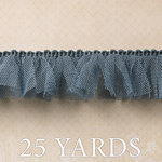 Websters Pages - Trendsetter Collection - Designer Ribbon - Blue Tutu - 25 Yards