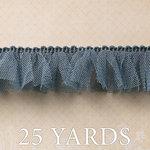 Websters Pages - Trendsetter Collection - Designer Ribbon - Blue Tutu - 25 Yards