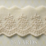 Websters Pages - Western Romance Collection - Designer Ribbon - Western Eyelet - 25 Yards