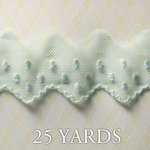 Websters Pages - All About Me Collection - Designer Ribbon - Polka Net Blue - 25 Yards