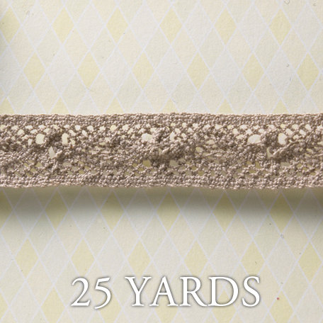 Websters Pages - All About Me Collection - Designer Ribbon - Classic You Taupe - 25 Yards