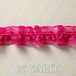 Websters Pages - Winter Fairy Tales Collection - Designer Ribbon - Frilly Pink Ruffle - 25 Yards