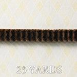 Websters Pages - A Botanical Christmas Collection - Designer Ribbon - Velvet Wave Brown - 25 Yards