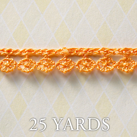Websters Pages - A Botanical Christmas Collection - Designer Ribbon - Fringe Orange - 25 Yards