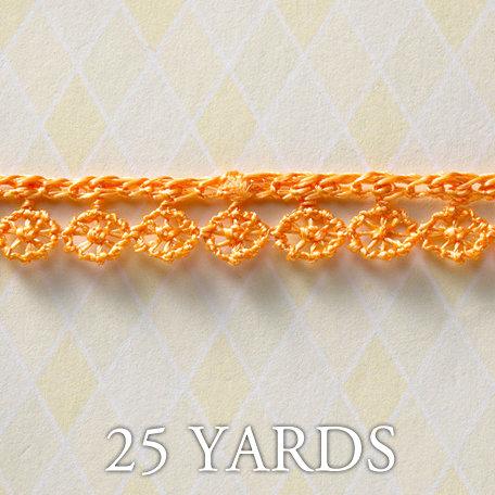 Websters Pages - A Botanical Christmas Collection - Designer Ribbon - Fringe Orange - 25 Yards