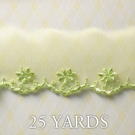 Websters Pages - A Botanical Christmas Collection - Designer Ribbon - Floral Threads - 25 Yards