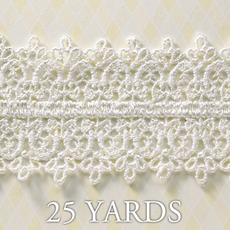 Websters Pages - A Botanical Christmas Collection - Designer Ribbon - Grand Lace - 25 Yards