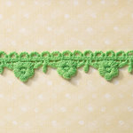Websters Pages - Sunday Picnic Collection - Designer Ribbon - Green Flowerdrop - 25 Yards