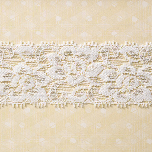 Websters Pages - Sunday Picnic Collection - Designer Ribbon - White Linen - 25 Yards