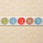 Websters Pages - Designer Ribbon - Numbers - 25 Yards