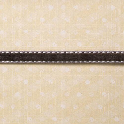 Websters Pages - Designer Ribbon - Grey Velvet - 25 Yards