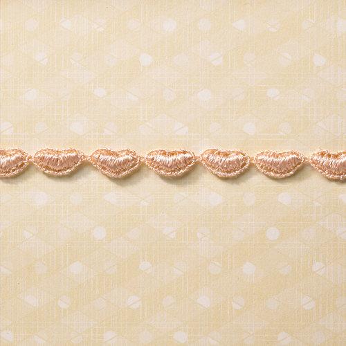 Websters Pages - Designer Ribbon - Pink Hearts - 25 Yards