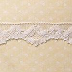 Websters Pages - Designer Ribbon - White Floral - 25 Yards