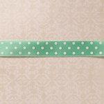 Websters Pages - Designer Ribbon - Blue Satin Polka - 25 Yards