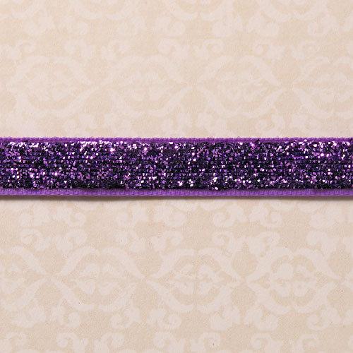 Websters Pages - Designer Ribbon - Purple Sparkle - 25 Yards