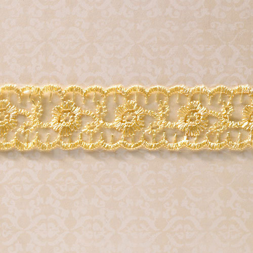 Websters Pages - Designer Ribbon - Yellow Lace - 25 Yards