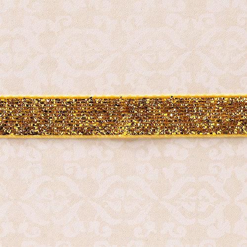 Websters Pages - Designer Ribbon - Velvet Gold Sparkle - 25 Yards