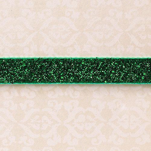 Websters Pages - Designer Ribbon - Velvet Green Sparkle - 25 Yards