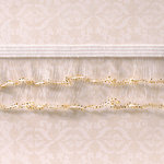 Websters Pages - Designer Ribbon - Sparkle Edge Gold - 25 Yards