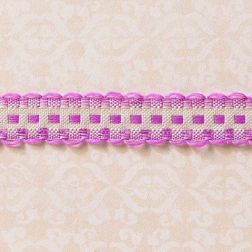 Websters Pages - Designer Ribbon - Scallop Purple - 25 Yards