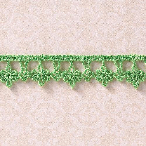 Websters Pages - Designer Ribbon - Drop Flower Green - 25 Yards