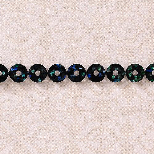 Websters Pages - Designer Ribbon - Sequin Black and Blue - 25 Yards