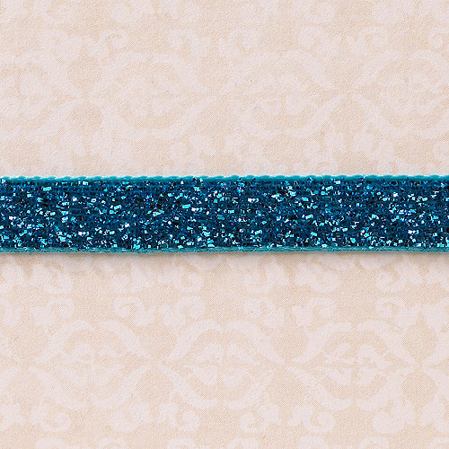 Websters Pages - Designer Ribbon - Velvet Royal Blue Sparkle - 25 Yards