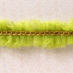 Websters Pages - Designer Ribbon - Netting Green - 25 Yards