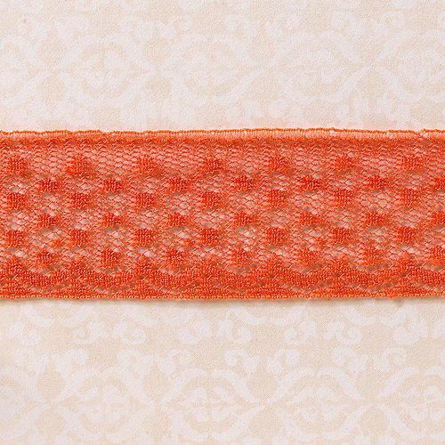 Websters Pages - Designer Ribbon - Petite Lace Salmon - 25 Yards