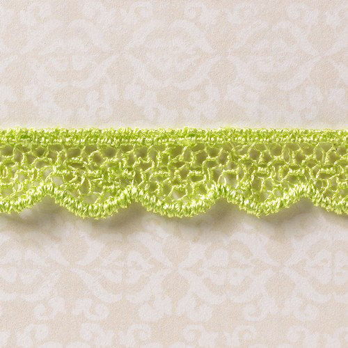 Websters Pages - Designer Ribbon - Green Scallop - 25 Yards