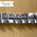 Websters Pages - Composition and Color Collection - Designer Ribbon - Grey Ruffle - 25 Yards