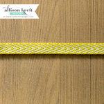 Websters Pages - Sweet Notes Collection - Designer Ribbon - V-Print Lime - 25 Yards