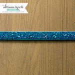 Websters Pages - Sweet Notes Collection - Designer Ribbon - Blue Velvet Sparkle - 25 Yards