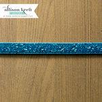 Websters Pages - Sweet Notes Collection - Designer Ribbon - Blue Velvet Sparkle - 25 Yards